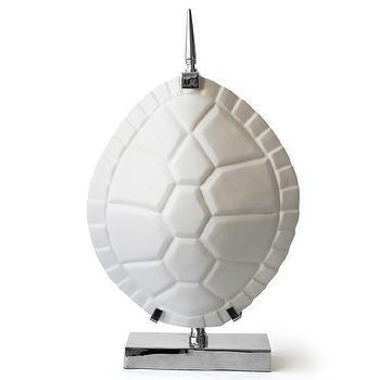 Lighting - Jonathan Adler 2 Light Tortoise Shell Table Lamp | AllModern - white tortoise shell table lamp, modern white tortoise shell table lamp, faux white tortoise shell lamp, white turtle shell lamp,