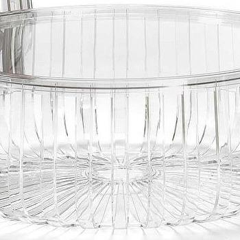 Tables - Kartell Panier Table | AllModern - round acrylic table, acrylic slat table, round acrylic coffee table, round acrylic slat coffee table,
