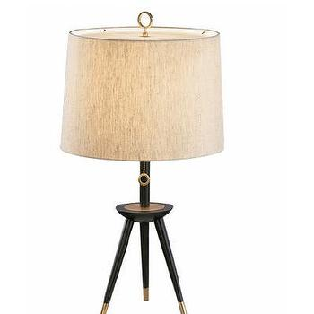 Lighting - Jonathan Adler Ventana 1 Light Tripod Table Lamp | AllModern - modern tripod table lamp, tripod table lamp, black and brass tripod table lamp,