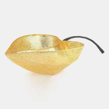 Decor/Accessories - Michael Aram 'Gooseberry' Pierced Bowl | Nordstrom - gold leaf bowl, pierced gold leaf bowl, gold leaf-shaped bowl,