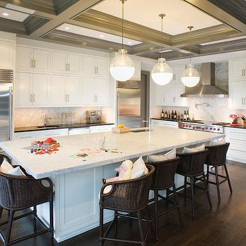 Gray Wood Beams -Transitional, kitchen, East End Country KItchens