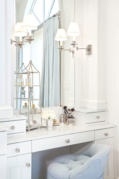Make Up Vanity Transitional Bathroom Markay Johnson
