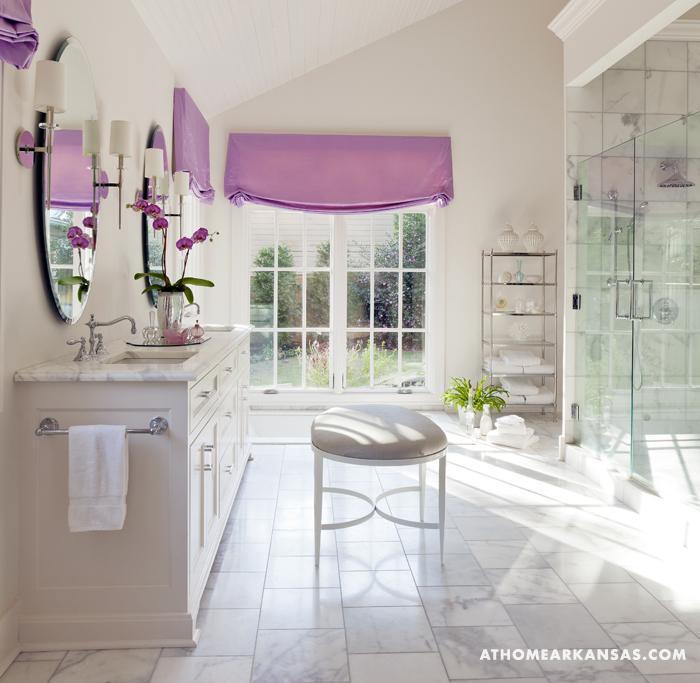 Purple Bathroom Accessories Master Bath