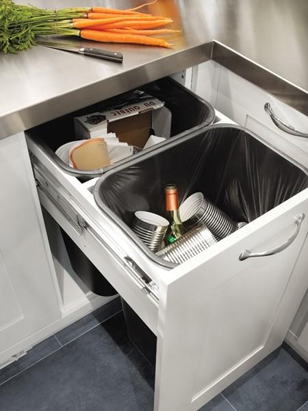 Hidden Waste Bins Transitional Kitchen House Amp Home