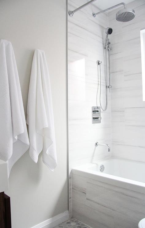 Bathroom Tiles Alternative : White marble alternatives modern bathroom benjamin