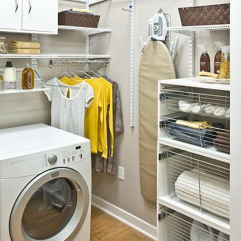 Laundry Room Bins, Transitional, laundry room, Organized Living