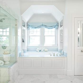 Marble Shower Ideas Transitional Bathroom