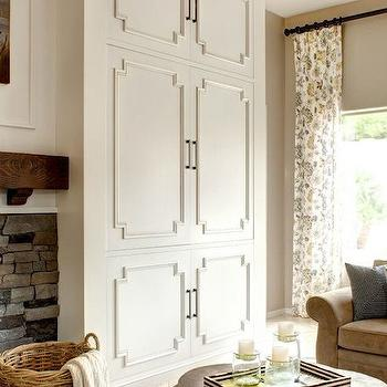 Cabinet Trim Molding, Transitional, living room, J and J Design Group