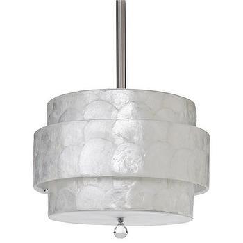 Lighting - Regina Andrew Orbit Capiz Pendant I Zinc Door - tiered capiz pendant, tiered capiz shell pendant, modern tiered capiz pendant,