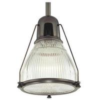 Lighting - Hudson Valley Lighting Haverhill 1 Light Mini Pendant | Wayfair - prismatic glass pendant, bronze ribbed glass pendant, prismatic glass and bronze pendant,