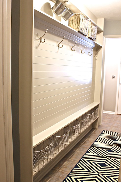 Mudroom Paneling Transitional Laundry Room Sherwin
