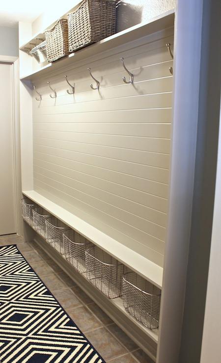 Mudroom Beadboard Transitional Laundry Room Sherwin