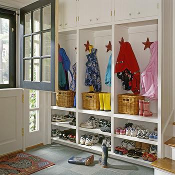 Mudroom with Dutch Door, Traditional, laundry room, Whitten Architects