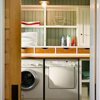 Country Laundry Room, Country, laundry room, Sherwin Williams Oyster Bay, Whitten Architects