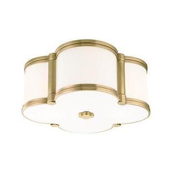 Lighting - Hudson Valley Lighting Chandler 2 Light Flush Mount | Wayfair - clover shaped flush mount, aged brass clover shaped flush mount, white clover shaped flush mount with brass trim,