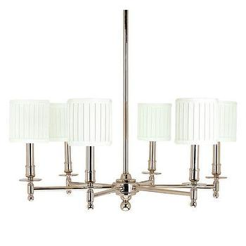 Lighting - Hudson Valley Lighting Palmer 6 Light Chandelier | Wayfair - polished nickel chandelier, polished nickel chandelier with white shades, polished nickel chandelier with pleated white shades,