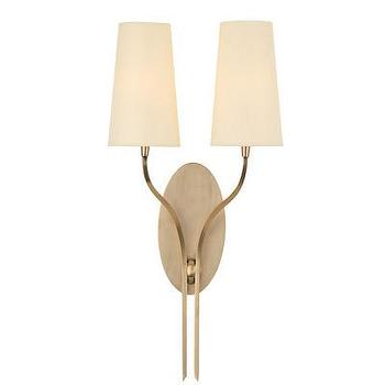 Lighting - Hudson Valley Lighting Rutland 2 Light Wall Sconce | Wayfair - aged brass 2 light wall sconce, aged brass two light wall sconce, aged brass 2 light wall sconce with ivory shades,