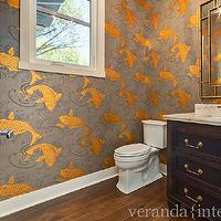 Osborne and little grasscloth 2017 grasscloth wallpaper for Koi fish bathroom decorations