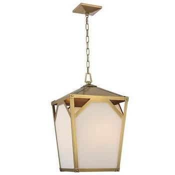Lighting - Hudson Valley Lighting Carlisle 4 Light Pendant | Wayfair - aged brass lantern pendant, aged brass and white glass lantern pendant, aged brass lantern,