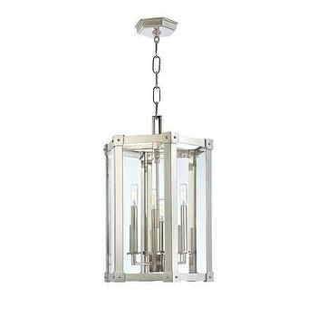 Lighting - Hudson Valley Lighting Roxbury 6 Light Pendant | Wayfair - modern polished nickel lantern pendant, polished nickel lantern pendant, contemporary polished nickel lantern pendant,