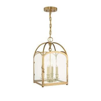 Lighting - Hudson Valley Lighting Oxford 4 Light Candle Foyer Pendant | Wayfair - aged brass lantern pendant, aged brass foyer lantern, brass lantern pendant,