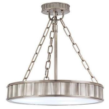 Lighting - Hudson Valley Lighting Middlebury 3 Light Drum Pendant | Wayfair - nickel drum pendant, round nickel drum pendant, fluted round nickel drum pendant,