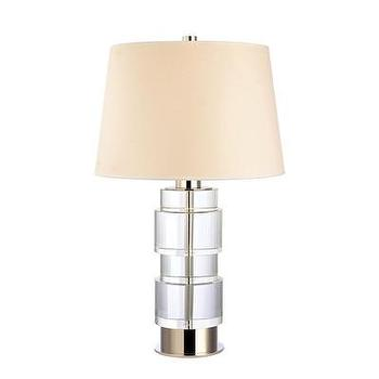 Lighting - Hudson Valley Lighting Melrose 1 Light Table Lamp | Wayfair - polished nickel table lamp, contemporary polished nickel table lamp, polished nickel table lamp with cream shade,