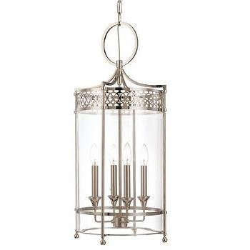 Lighting - Hudson Valley Lighting Amelia 4 Light Foyer Pendant | Wayfair - antique nickel lantern pendant, antique nickel foyer pendant, antique nickel foyer lantern,