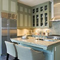 Monochromatic kitchen transitional kitchen lux decor for Kitchen cabinets lowes with metal bridge wall art