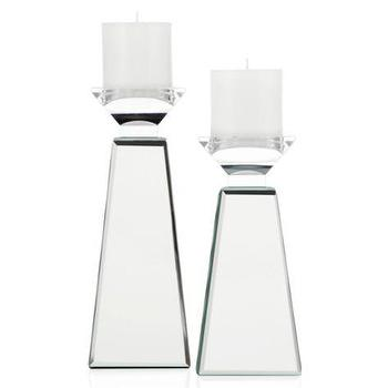 Decor/Accessories - Prism Pillar Holder | Z Gallerie - mirrored pillar holder, mirrored candle holder, prism mirrored candle holder,
