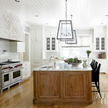 Whitewashed Kitchen Hood, Cottage, kitchen, Atlanta Homes & Lifestyles
