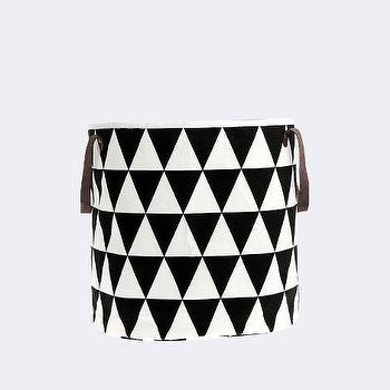 Decor/Accessories - Triangle Basket I ferm LIVING - black and white geometric basket, black and white diamond patterned basket, graphic black and white basket,