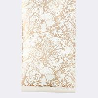 Wallpaper - Wilderness Wallpaper I ferm LIVING - gold and white branch wallpaper, gold and white branches wallpaper, metallic gold and white branch wallpaper,