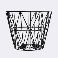 Decor/Accessories - Wire Basket I ferm LIVING - wire basket, black wire basket, modern wire basket,