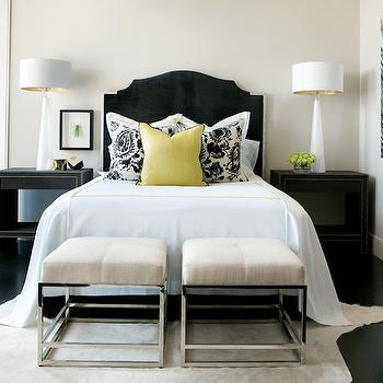 White and Black Bedroom, Contemporary, bedroom, Atlanta Homes & Lifestyles