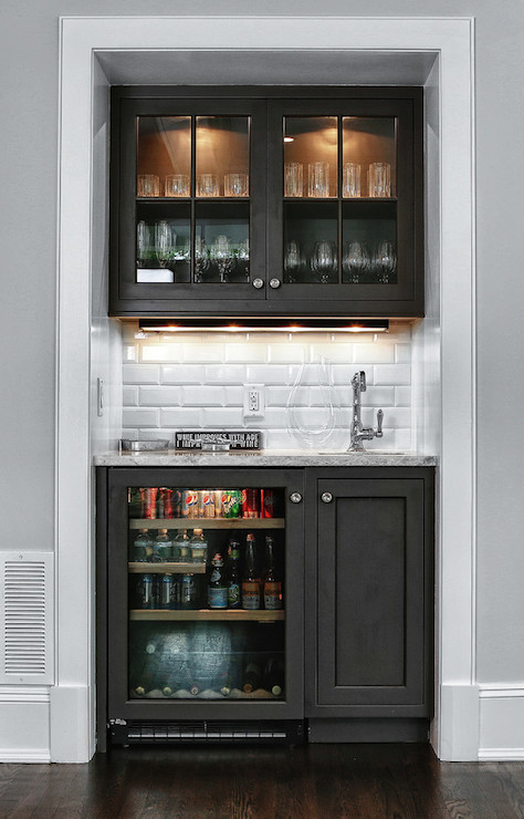 Snack bar ideas contemporary living room derosa builders for How to build a wet bar at home