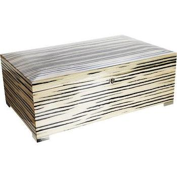 Decor/Accessories - Barneys New York Large LacqueredJewelry Box I Barneys.com - lacquered wood jewelry box, two tone lacquered wood jewelry box, striated wood lacquered jewelry box,