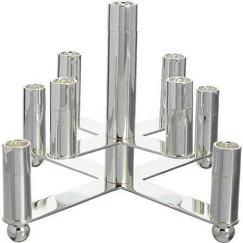 Decor/Accessories - Ricci Silversmiths 9-Lite Centerpiece Candle Holder I Barneys.com - silver plated candle holder, modern silver plated candle holder, lacquered silver plated candle holder,
