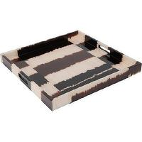 Decor/Accessories - Madeline Weinrib Striped Tray I Barneys.com - brown and cream striped tray, striped tray, brown and cream striped square tray,