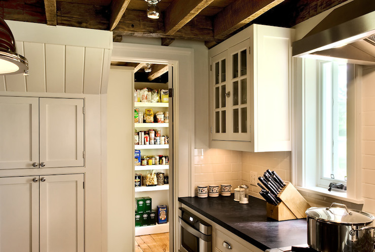 Pantry With Pocket Door Country Kitchen Crisp Architects