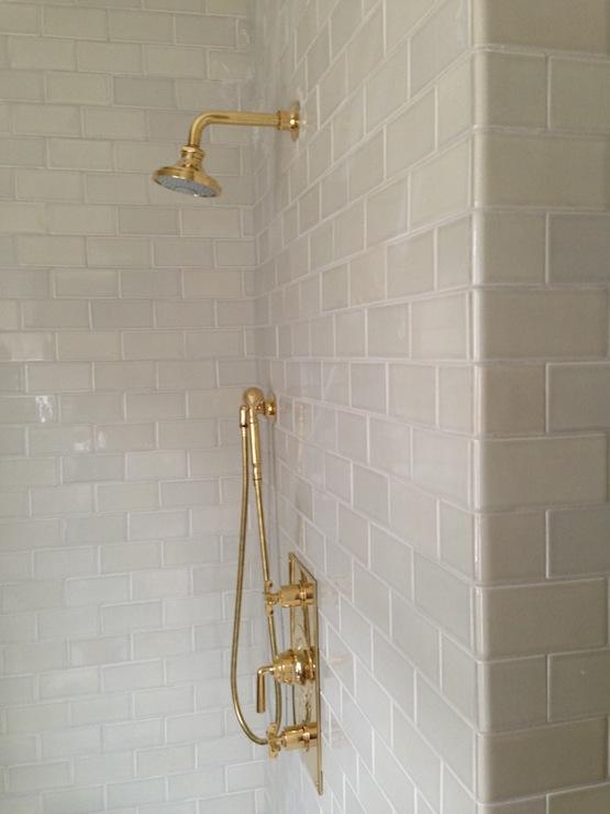 Light Gray Subway Tiles Transitional Bathroom