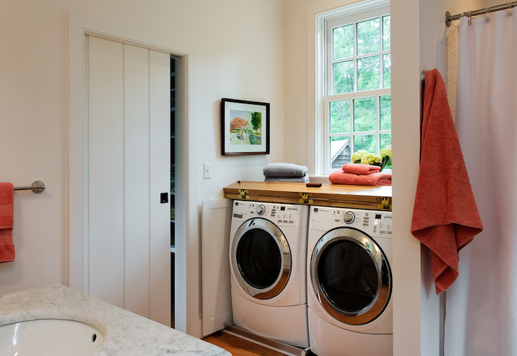 Washer And Dryer In Bathroom Cottage Laundry Room