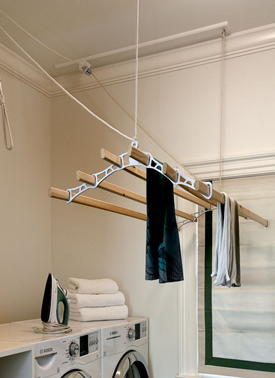 Laundry room drying rack transitional laundry room Laundry room drying rack ideas