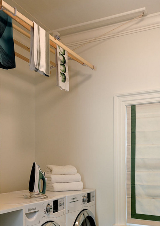 Drying Rack Transitional Laundry Room Crisp Architects
