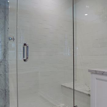 Hex Shower Floor, Transitional, bathroom, Kelly Baron