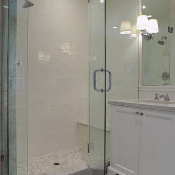 Hexagon Shower Floor, Transitional, bathroom, Kelly Baron