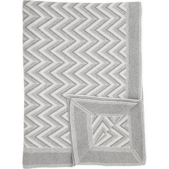 Decor/Accessories - Rani Arabella Dillon Modern Herringbone Knit Throw I Barneys.com - gray and ivory herringbone throw, gray and ivory cashmere throw, gray and ivory herringbone throw, gray and ivory geometric throw, gray and ivory herringbone cashmere throw,