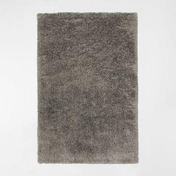 Rugs - Macri Shag Rug - Silver | west elm - gray shag rug, light gray shag rug, silver gray shag rug,