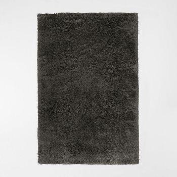 Rugs - Macri Shag Rug - Armor | west elm - shag rug, dark gray shag rug, charcoal gray shag rug,