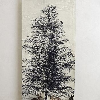 Art/Wall Decor - Northern Pine Wall Tapestry I anthropologie.com - winter tapestry, christmas tapestry, tree and bunny tapestry, winter scene tapestry,